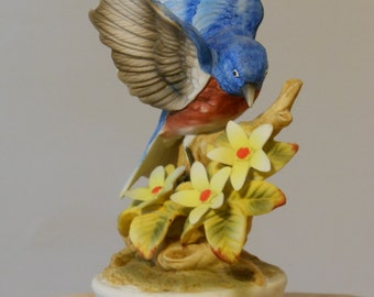 Porcelain Bisque Vintage Shafford Blue Bird