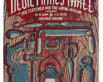 The Devil Makes Three concert poster — giclée print