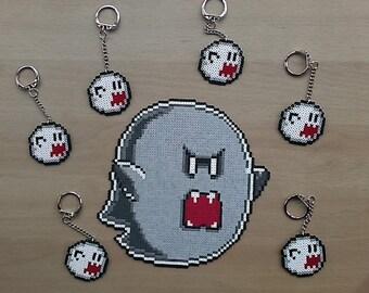 Super Mario World Boo Bead Sprite and Keyring.