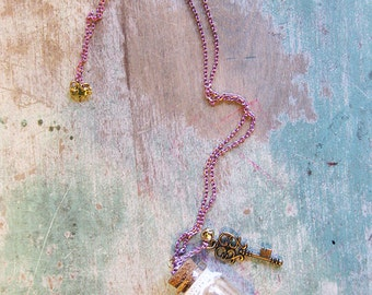 Lolita Glitter Star Universe in a Bottle Necklace Key to the Stars