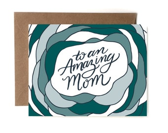 To an Amazing Mom // Letterpress Card // Love Card // Mother's Day Card // Card for Mom