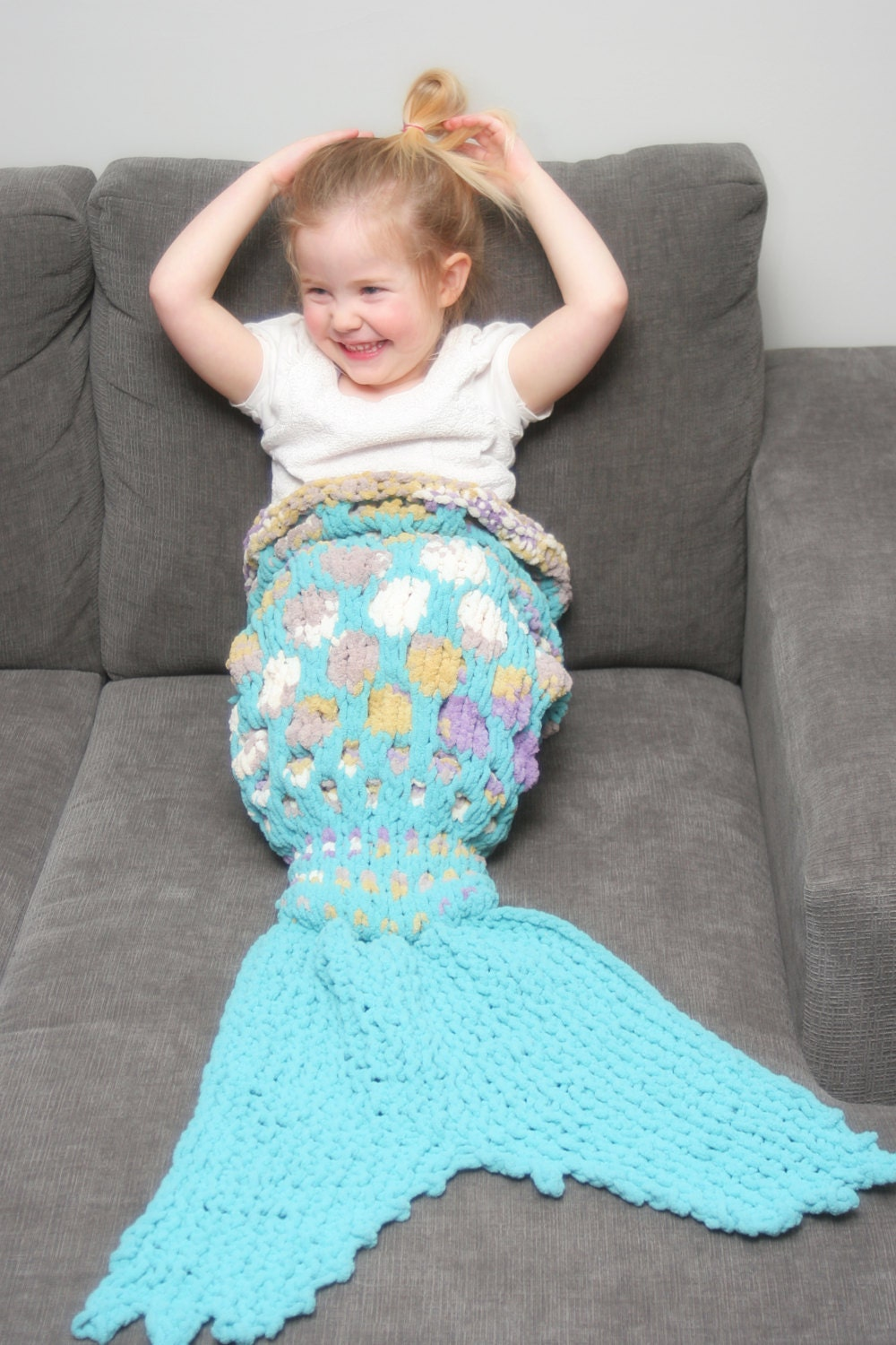 Knitting Patterns For Mermaid Tails : Knitting Instructions Mermaid Tail Mermaid Blanket Knit