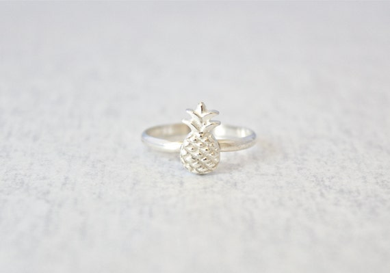 pineapple ring sterling silver ring with by carruthersjewelry