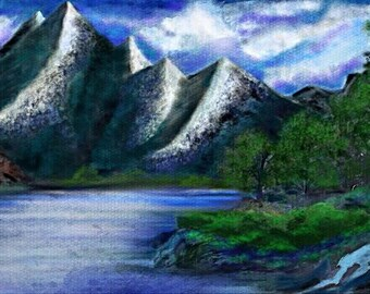Mountainside Digital Artwork