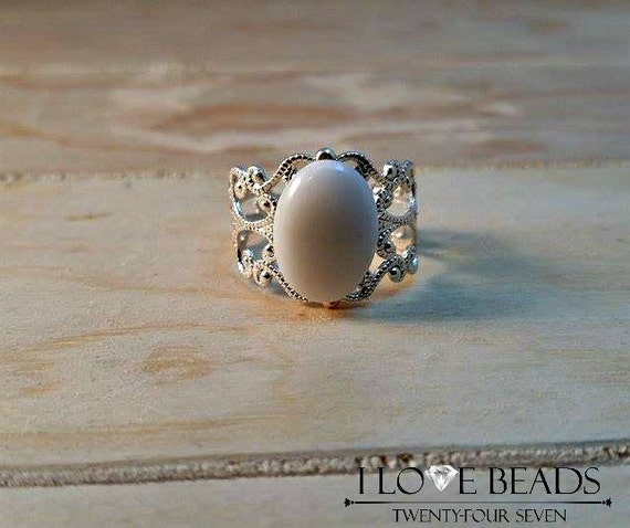 Items Similar To Opal Ring Exquisite Braided Opal: Items Similar To White Opal Ring-silver Ring-opal Rings