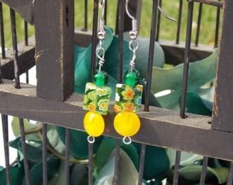Green Meadow Sunshine Earrings