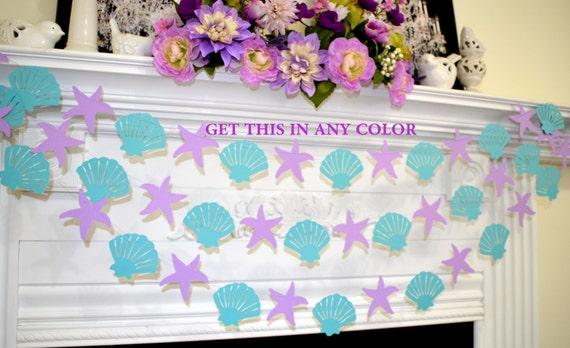 Seashell and starfish garland under the sea nautical wedding