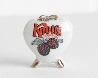 Vintage 70s Ceramic Knotts Berry Farm Toothpick Holder or Bud Vase