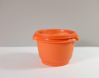 Servalier tupperware, orange color - press & seal -  Orange Tupperware Container - Vintage tupperware fall color