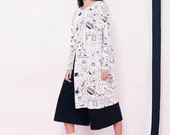 Fine Art Collection black and white hand painting sketch daydream dress