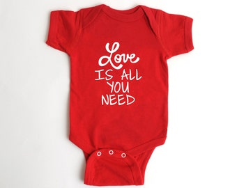 Valentine's Day Baby Bodysuit - Red Baby Shirt - Valentines Outfit for Baby