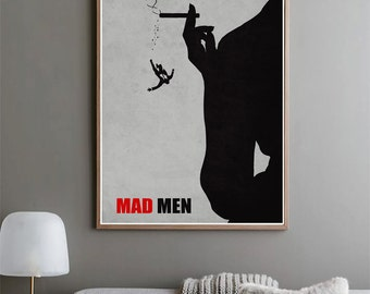 Mad Men- Minimalist Poster, Television Series, Original Print, Wall Art, Home Decor