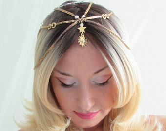 White and Gold Sun Crown