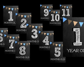 Month to Month Signs for a Baby Boy - 1 month to 1 year old signs