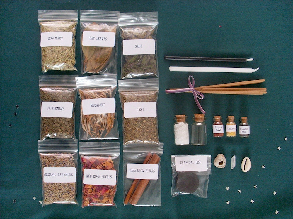 Witches Cabinet Starter Kit Small Witch Herbs Pagan Wicca - Www