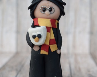 Harry Potter Ornament, Harry Potter Hedwig ornament, Harry Potter Cake Topper, Hogwarts Christmas ornament, Harry Potter Caketopper