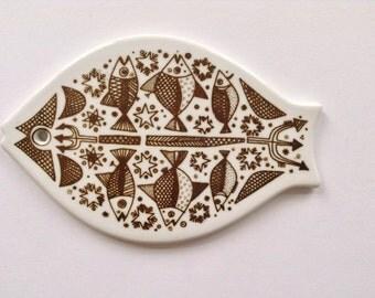 Norwegian Porsgrund Ceramic Fish Plate
