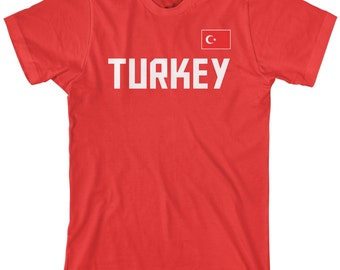Turkey National Team Men's T-shirt Turkish Soccer Ankara Republic Football Flag - TA_00248