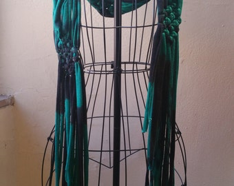 Macrame Jersey Knit Scarf