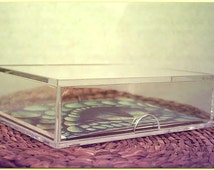 Single Clear Storage Box 25 ct ACEO Trading Card Holder or Small Diorama Art Display Case