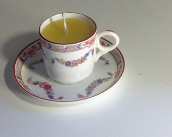 Beeswax teacup candle
