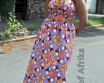 Lola African print maxi dress