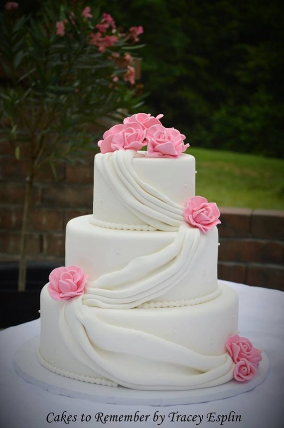 wedding cake fake tiers three tier fondant faux wedding cake faux wedding cake 22589