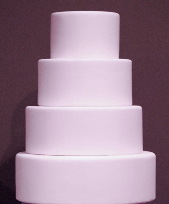 Four Tier Fondant Dummy Cake Fake Wedding Cake Fondant Wedding - Wedding Cake Dummy