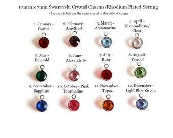 Add Round Birthstones; Swarovski Crystals, Jewelry Accessories