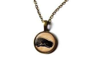Nautical jewelry Whale necklace Sea pendant NWR475