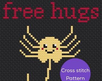 Free Hugs Cross Stitch Pattern