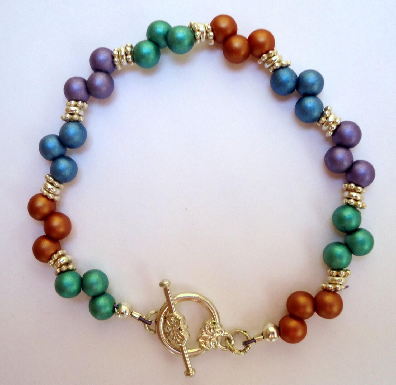 Zig Zag Jewellery: Beaded Braceletzig Zag Bracelet Dainty Bracelettop Drilled