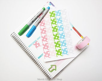 Polka Dot Page Flags Sticker Sheet : Spring Fling Theme Planner Stickers