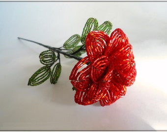 Beaded Rose (18inch, beads-cutting)