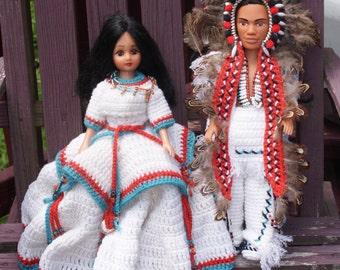 Beautiful Native American Male And Female Dolls