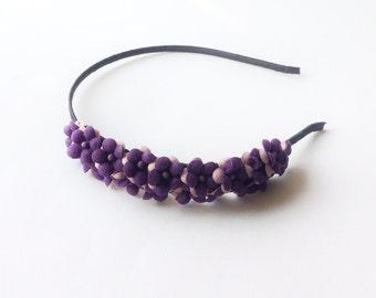 Hydrangea Headband - Party headband - Boho headband - Flower headband - Woodland headband - Purple Hydrangea - Adult headband - Lavender