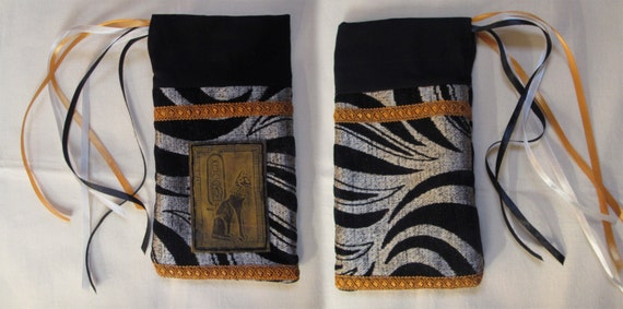 New bastet pouch embossed leather mystical by