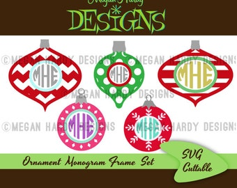 Ornament Monogram Frame Set SVG