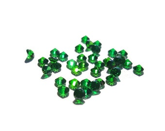5 or 10-Pack of Emerald Stardust Crystals for Floating Lockets-2.8mm-Gift Idea