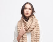 chunky scarf . knit scarf . oversized knit scarf . chunky knit scarf . big knit scarf  / The XL Wrap Scarf /  pictured : Camel