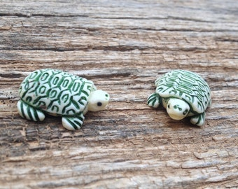 Cute Small Carved Bone Turtle