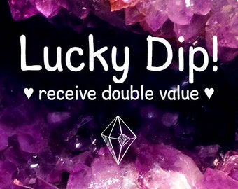 LUCKY DIP, mystery bag, grab bag, surprise box, gift, jewelry, jewellery, chokers, necklaces, earrings, rings