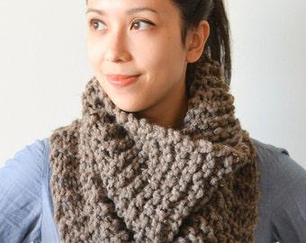 Cowl Scarf - Chunky Knit Cowl Scarf