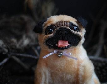 Puppy Pug Plush Art doll