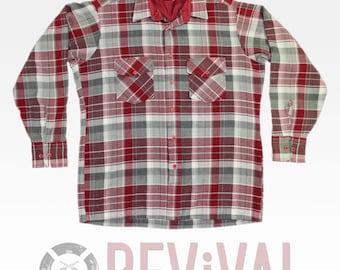 Vintage Plaid Flannel Shirt ~ Size L
