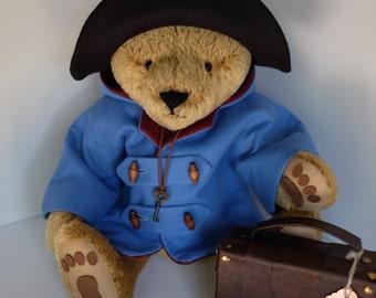 Mohair Bear Made in the fashion of Paddington Bear