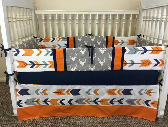 Deer & Arrow Crib Set/Baby Bedding By SewSweetBabyDesigns On Etsy