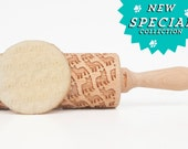 French Buldog !  Embossing rolling pin, gift for kids moms housewife grandma bakers and not only! Cool cookie pattern for doglover !