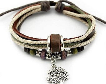 leather charm bracelet good luck and long life aventurine. Black Bedroom Furniture Sets. Home Design Ideas
