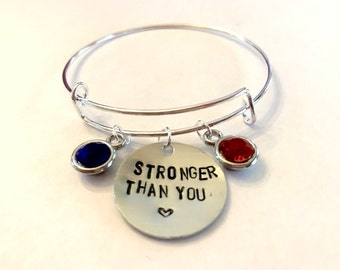 "Steven Universe Garnet Inspired Bangle - ""Stronger Than You"""